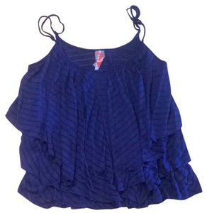 Free People Top Rich Blue