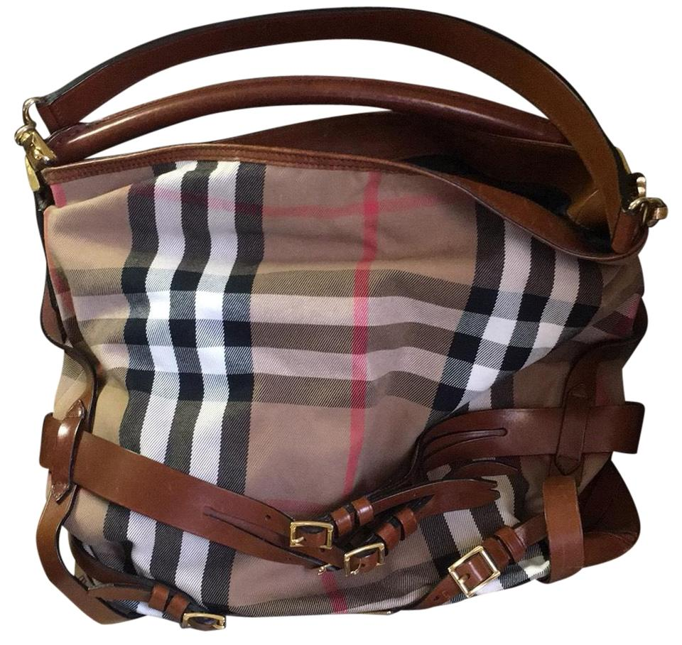 e5eee9e3a403 Burberry Large Bridle House Gosford Brown Beige Red Black White ...