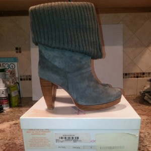 Charlotte Ronson Gray boots and brown sole an heel Boots