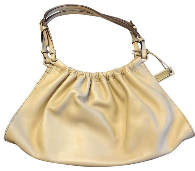 Item - Colored Hobo/Tote Cream/Ivory/Beige Leather Exterior Hobo Bag