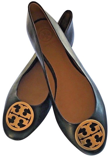 Tory Burch Black Chelsea Leather Ballet