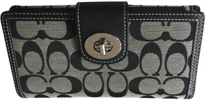 Coach Signature turn lock wallet and checkbook