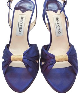 Jimmy Choo Open Toed Satin Cocktail purple Formal