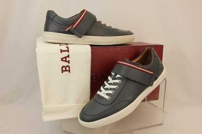 Item - Grey Oasys Dark Leather Lace Up Logo Swiss Sneakers 8 Us 41 Italy Shoes