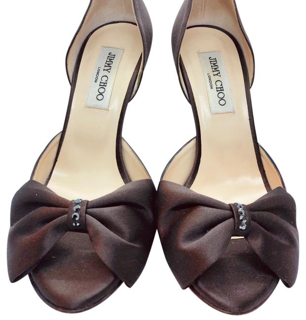 Item - Brown Satin Bow Stiletto Formal Shoes Size EU 39 (Approx. US 9) Regular (M, B)