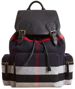 Burberry Large Rucksack Canvas and Leather Backpack - Tradesy 3ddd5fd538ed8