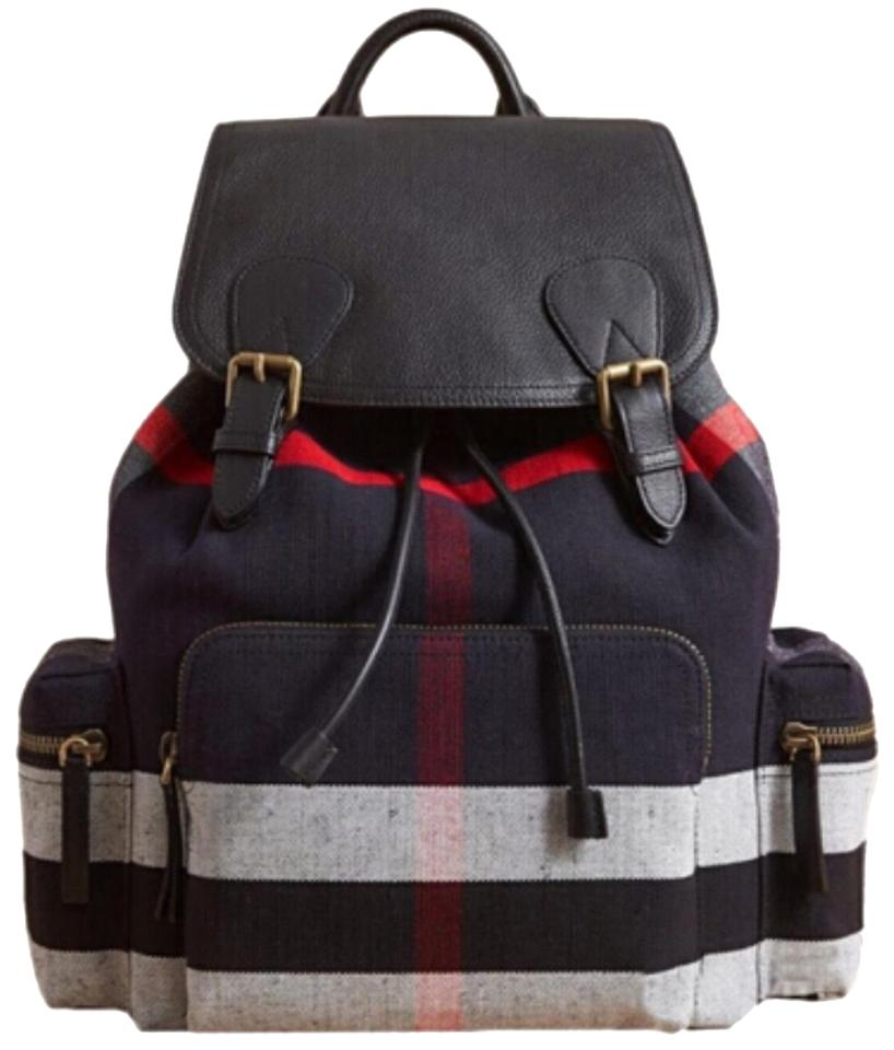 f9d5d92d4d9b Burberry Large Rucksack Canvas and Leather Backpack - Tradesy