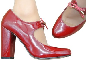 82502cd1f37 Steven by Steve Madden Round Toe Patent Leather Red Pumps