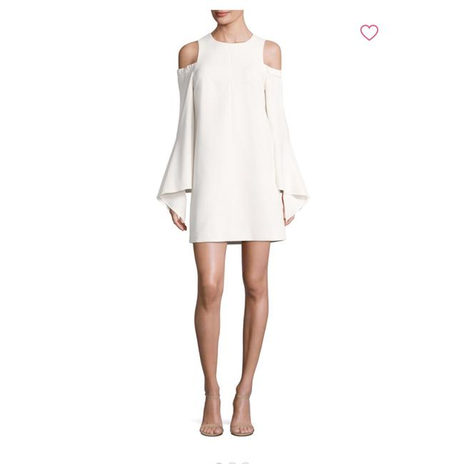 Item - Structured Crepe Cutout Shoulder Short Night Out Dress Size 4 (S)