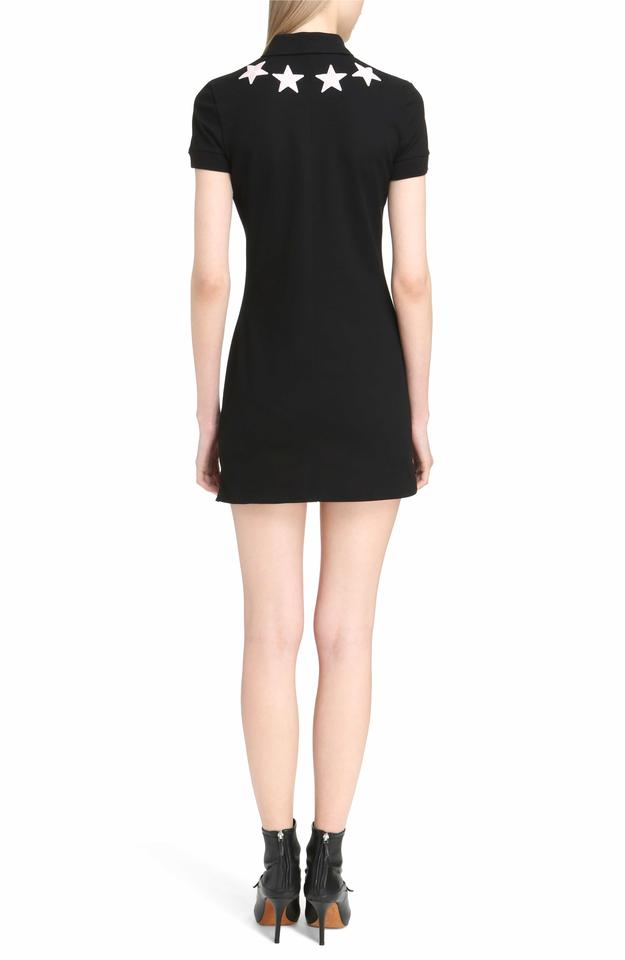 Givenchy Black Pink Star Embellished A Line Mini Short Casual Dress