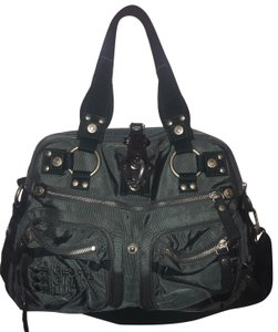 George Gina & Lucy Zipper Studded Satchel in Green