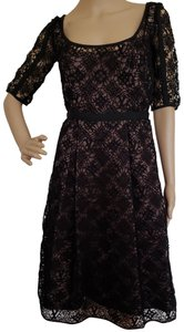 Louis Vuitton Lace Lv Monogram Longsleeve Crochet Dress