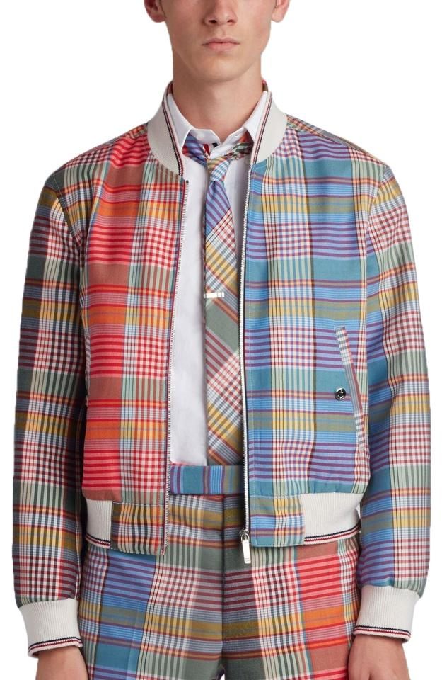 841fe90462 Thom Browne Multicolor Men's Zip Front Blouson Storm Flap Jacket ...