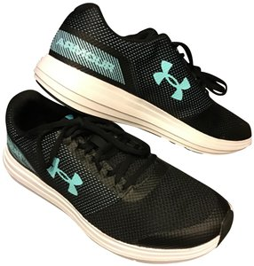 Under Armour Good Grip Sole Great Cushioning Mesh Fabric Venting Lace Up  Closure Black White f1403b54957be