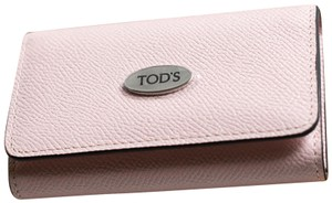 Tod's TOD'S Pink Leather Key Holder