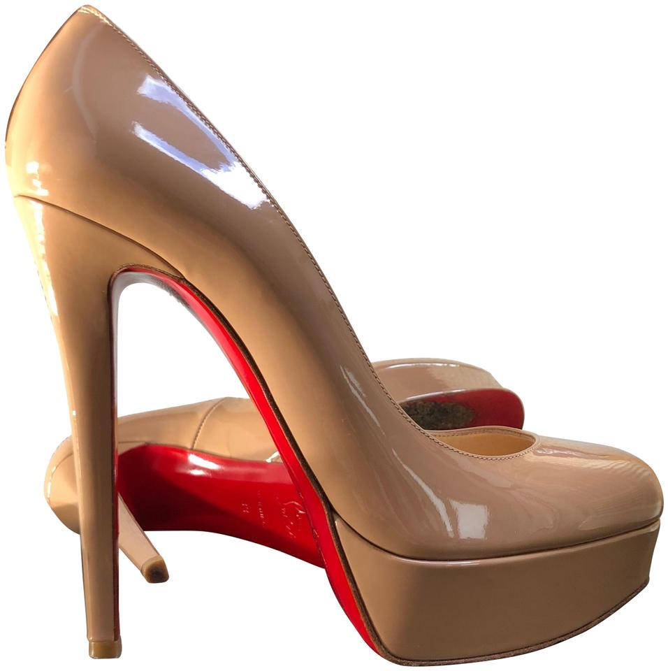 another chance 9647c e438a Christian Louboutin Beige Nude Bianca 140 Classic Almond-toe Platform Heels  Pumps Size EU 38 (Approx. US 8) Regular (M, B) 49% off retail