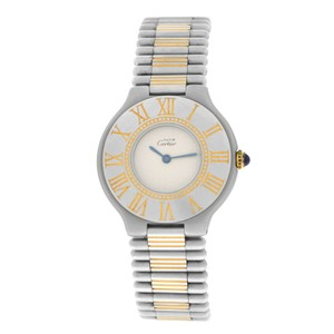 Cartier Ladies Cartier Must de Cartier 21 Stainless Steel Gold Bullet 31MM