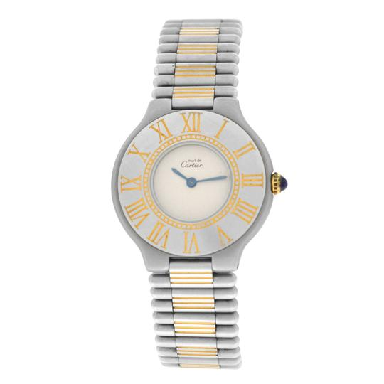Cartier Ladies Cartier Must de Cartier 21 Stainless Steel Gold Bullet 31MM Image 0