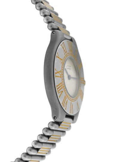 Cartier Ladies Cartier Must de Cartier 21 Stainless Steel Gold Bullet 31MM Image 2