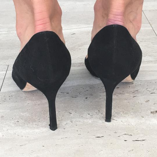 Manolo Blahnik Stiletto Suede Black Pumps Image 2
