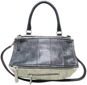 Givenchy Pandora Python Skin Leather Satchel in Multicolore