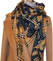 Burberry AUTHENTIC NEW Graffiti-Print Check Wool-Silk Large Square Scarf Image 0