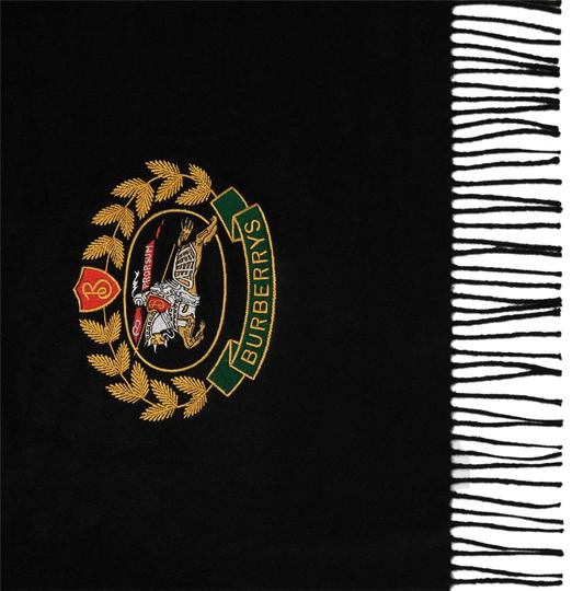 Preload https://img-static.tradesy.com/item/24597138/burberry-black-new-large-crest-embroidered-cashmere-scarfwrap-0-2-540-540.jpg
