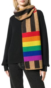 Burberry AUTHENTIC NEW Rainbow Reversible Mega Check Cashmere Scarf