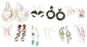 Claire's 11 Pairs Pierced Earrings--NO backs!!