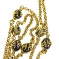 Chanel CHANEL CC Imitation Pearl Chain Pendant Necklace Gold France Image 1