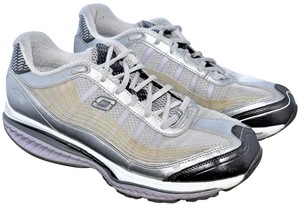 Skechers Sneakers Shape Up Kinetic Wedge Reastance SILVER & GRAY UPPERS LAVENDER SOLES Athletic