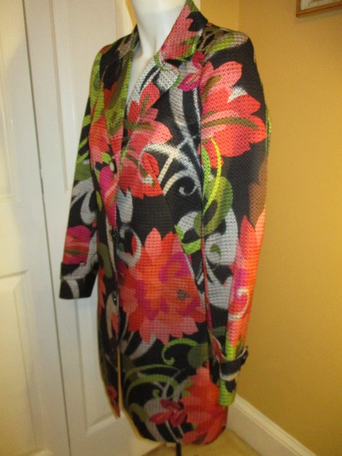 Trina Turk Floral Print Spring 005 Trench Coat