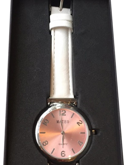 Preload https://img-static.tradesy.com/item/24597541/white-rose-gold-two-tone-faux-leather-watch-0-2-540-540.jpg