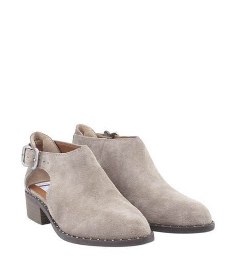 Lucky Brand Heels Suede Box China Box Grey Boots