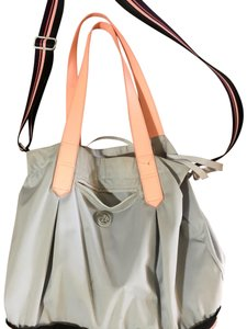 LuluLemon Gym Bag Tote in Gray, pink and white