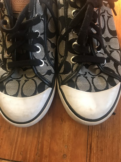 Coach 1941 Logo Sneakers Black and Grey Athletic