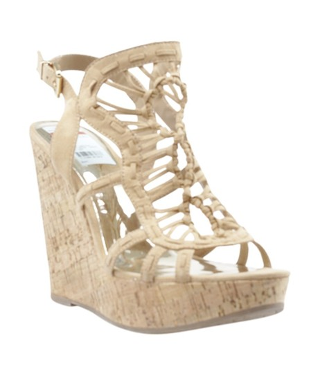 Carlos by Carlos Santana Suede Gold-tone China Box xTan Wedges