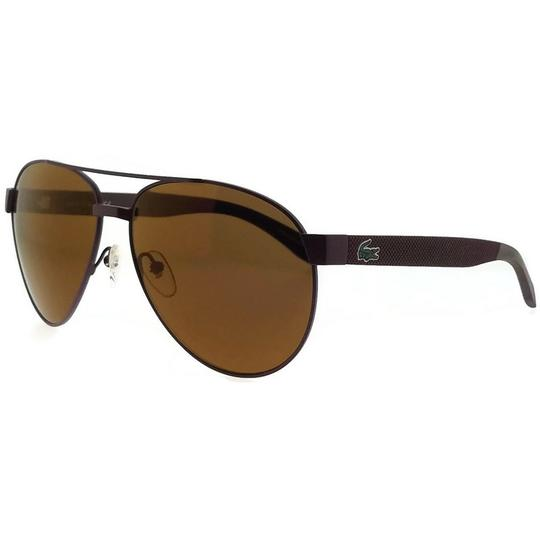 Lacoste L185S-615-60 Pilot Unisex Red Frame Brown Lens Genuine Sunglasses