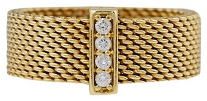 Tiffany & Co. 18k Wide Somerset Diamond Ring