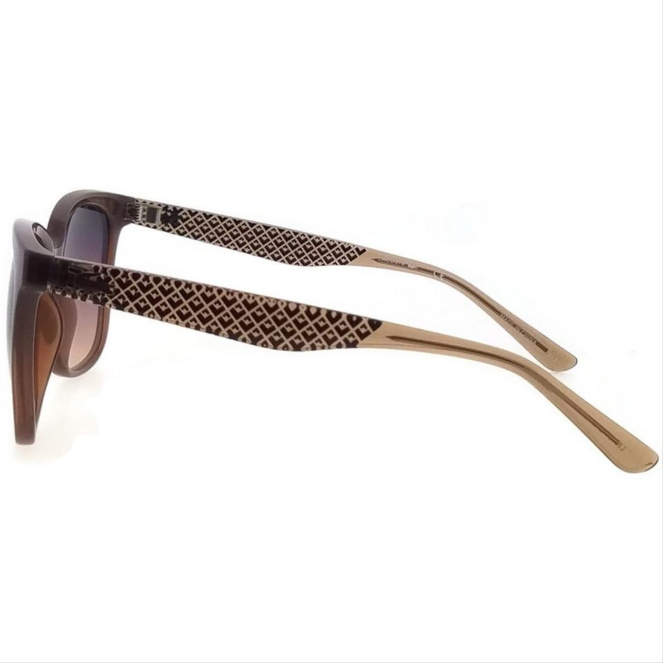 0fe4f14cce73 Lacoste L861S-210-55 Square Women s Brown Frame Red Lens Genuine Sunglasses  Image 5. 123456