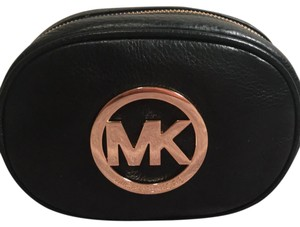 Michael Kors Collection Wristlet in black and gold