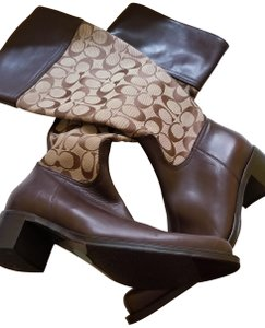 Coach Brown leather/ with Signature Boots