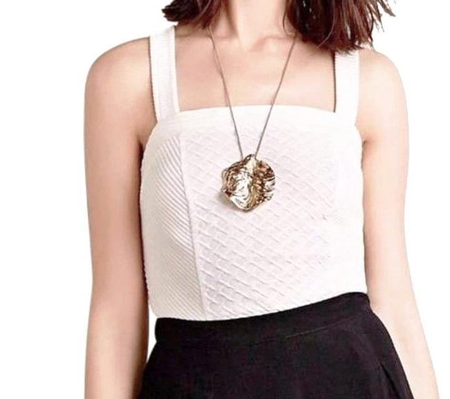 Anthropologie Textured Fabric Pullover Styling Comfy Cotton Wardrobe Staple Go To Piece Top Ivory