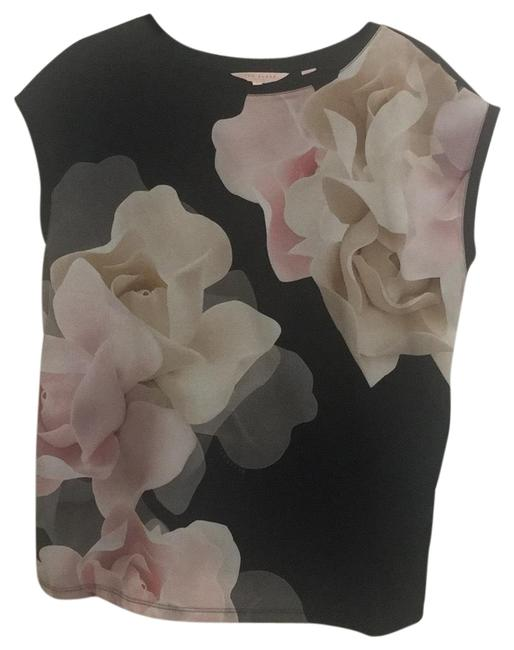 Preload https://img-static.tradesy.com/item/24597728/ted-baker-multicolor-floral-dual-fabric-tee-shirt-size-4-s-0-1-650-650.jpg