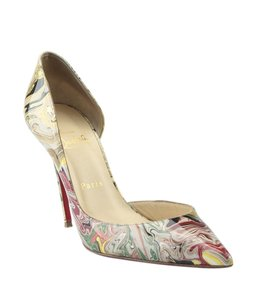 Christian Louboutin Heels Patent Leather Pre-owned Dustbag Multi-Color Boots