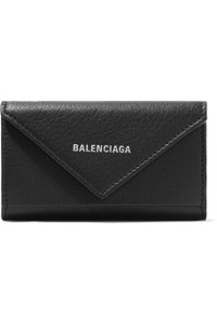 Balenciaga Balenciaga Paper printed textured-leather key case