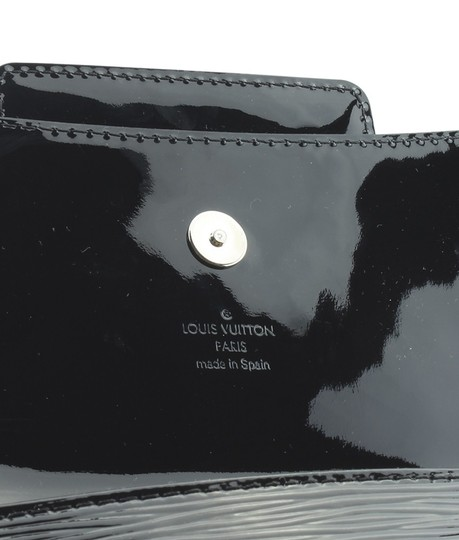 Louis Vuitton Patent Leather Pre-owned Dustbag Silver-tone Black Clutch