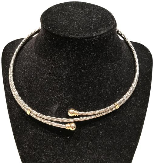 Preload https://img-static.tradesy.com/item/24597798/two-tone-silvergold-twisted-choker-with-accents-15-16-necklace-0-2-540-540.jpg