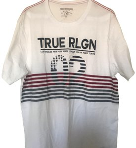 True Religion T Shirt white, black, red and gray