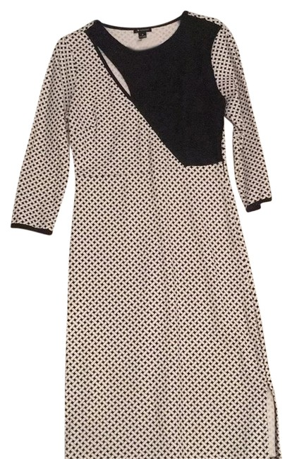 Preload https://img-static.tradesy.com/item/24597855/i-heart-ronson-black-and-white-34-sleeve-mid-length-workoffice-dress-size-8-m-0-1-650-650.jpg